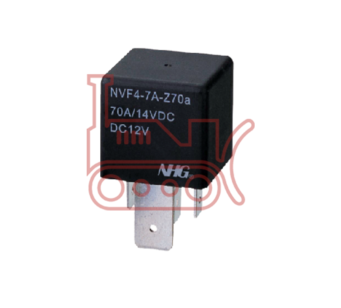 060007815 Relay 12 Volt 4 Pin 70 Amp With Metal Bracket Nhg Universal